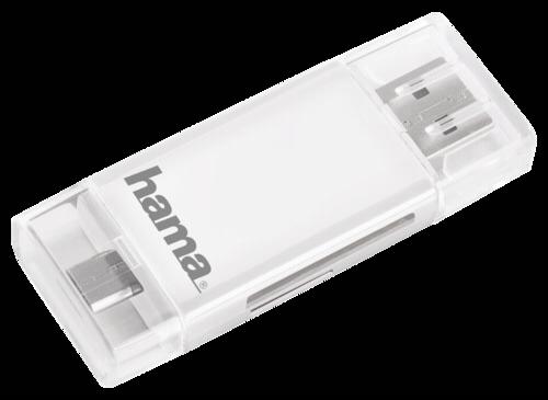 Hama USB 2.0 OTG card reader for Smartphone Tablet SD microSD
