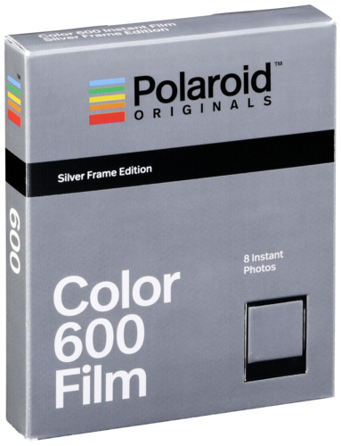 Polaroid 600 Color Film Silver Frame