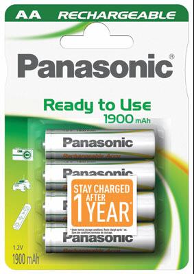 Panasonic NiMH Mignon AA 1900 mAh Rechargeable Evolta 1x4