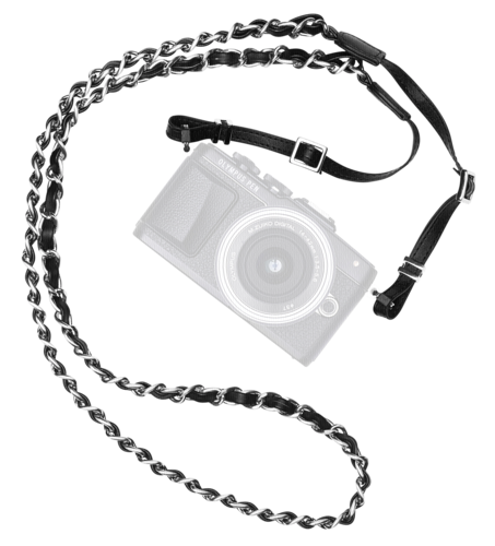 Olympus Leather Hand Strap Be my Rockstar