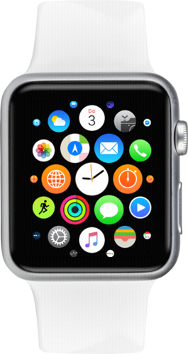 Apple Watch 38mm Silver Alu Case with White Sport Band