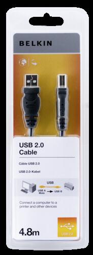 Belkin USB A/B Cable Hi-Speed 2.0 4.8m