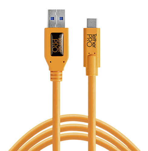 Tether Tools USB 3.0 to USB-C 4,60m orange
