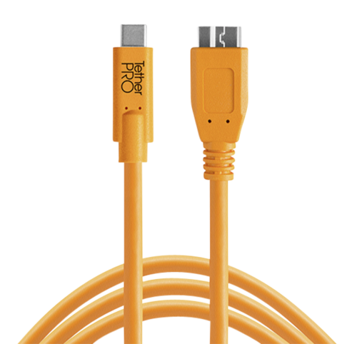 Tether Tools USB-C to 3.0 Micro- B 4,60m orange
