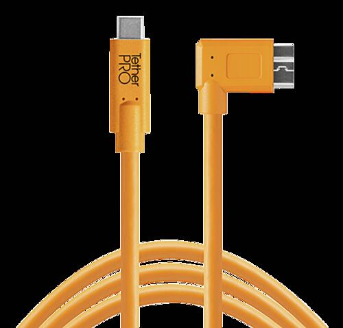 Tether Tools USB-C to 3.0 Micro- B Right Angle 4,60m orange