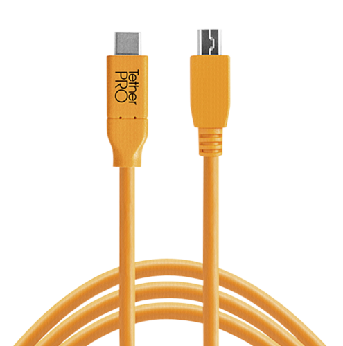 Tether Tools USB-C to 2.0 Micro- B 5-Pin 4,60m orange