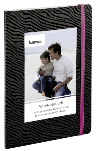 Hama Photo Notebook Luan 15x21 (144 Plaid Pages Zebra)