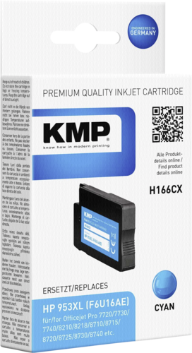 KMP H166CX cartridge HPF6U16AE cyan