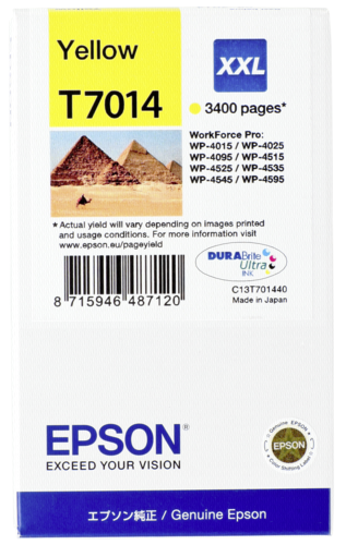Epson Cartridge T7014 WorkForce Pro Yellow XXL