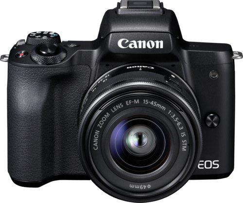 Canon EOS M50 Black Kit EF-M 15-45mm IS STM + ΔΩΡΟ ΜΠΑΤΑΡΙΑ LP-E12