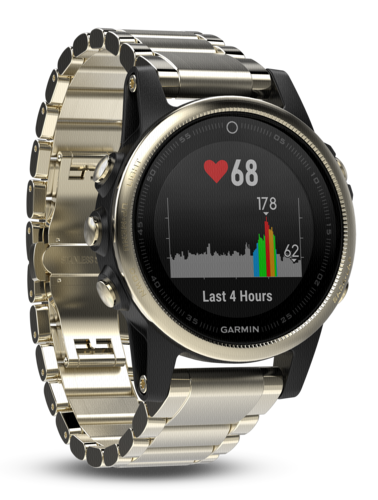 Garmin Fenix 5S Sapphire 42mm Gold with Metal Armband