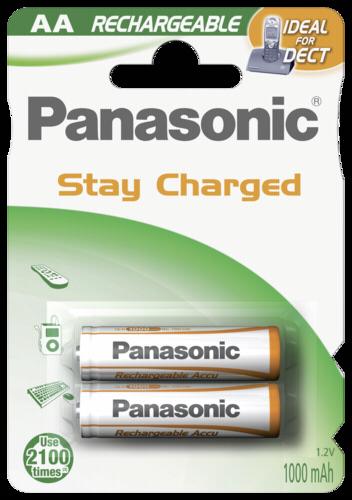 Panasonic NiMH Mignon AA 1000mAh 1x2