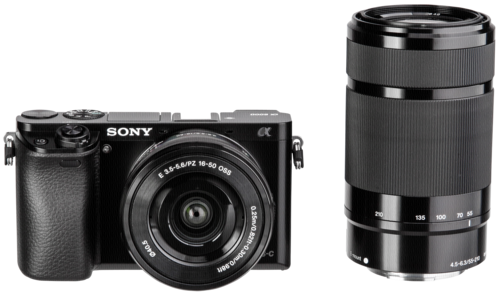 Sony Alpha 6000 Kit SEL-P 16-50mm + SEL-P 55-210mm Black