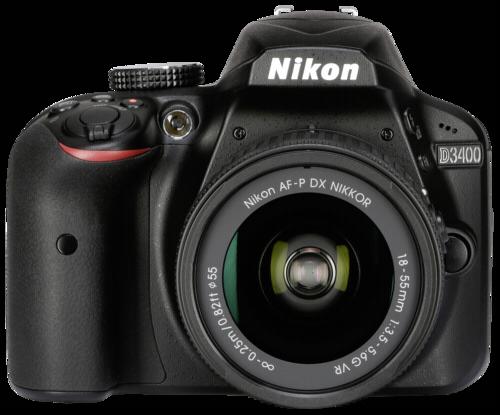 Nikon D 3400 Black Kit AF-P 18-55mm DX VR + Nikon AF-P 70-300mm f/4.5-6.3G DX ED VR - Δώρο τρίποδο και θήκη