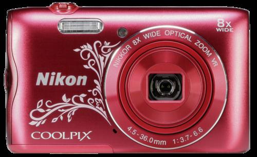 Nikon Coolpix A300 red line art