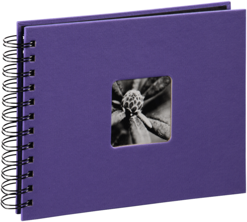 Hama Fine Art Spiral Violet 24x17cm (50 black Pages)