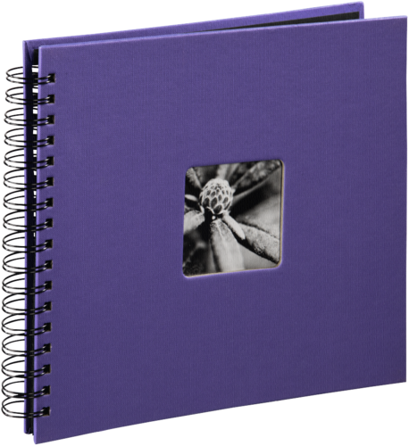 Hama Fine Art Spiral Violet 28x24 - 50 black pages