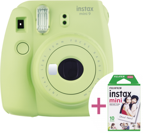 Fujifilm Instax mini 9 lime green incl. 10 Shot Film Pack