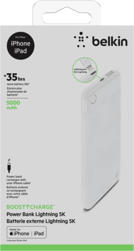 Belkin Boost Charge Power Bank 5K Lightning-Connector white