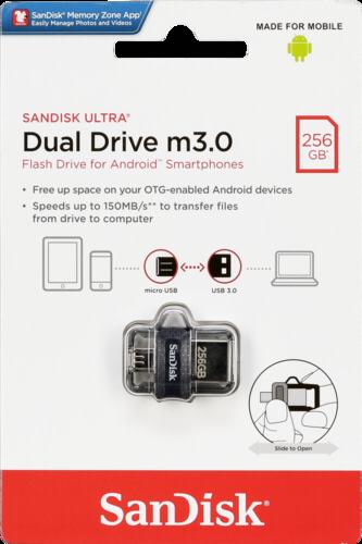 SanDisk Ultra Dual Drive 256GB m3.0 grey & silver