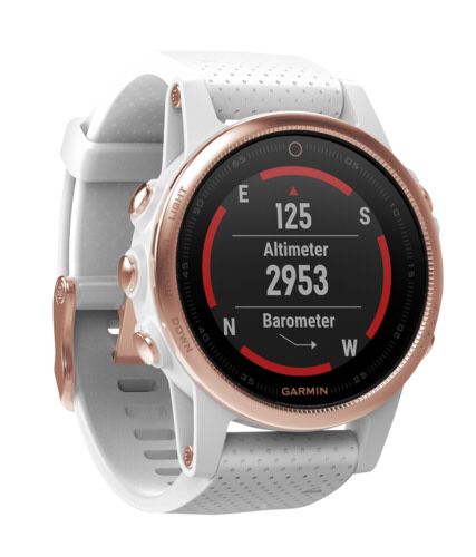 Garmin fenix 5s saphir rosé gold with white Armband