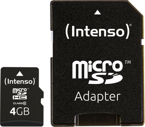 Intenso microSDHC 4GB Class 10 + adapter