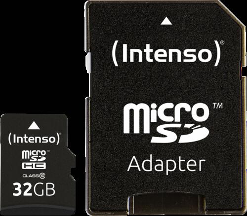 Intenso microSDHC 32GB Class 10 + adapter