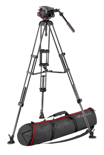Manfrotto Carbon CF Twin Leg Tripod + 504 MS 100/75