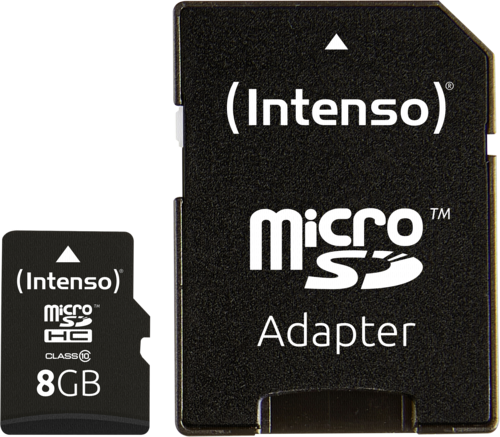 Intenso microSDHC 8GB Class 10 + adapter