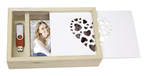 ZEP Love Box Wood for photos and USB