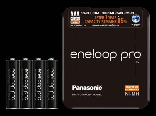 Panasonic Eneloop Pro Micro AAA 930mAh Sliding Pack 1x4
