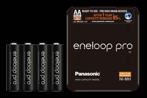 Panasonic Eneloop Pro Mignon AA 2500mAh Sliding Pack 1x4
