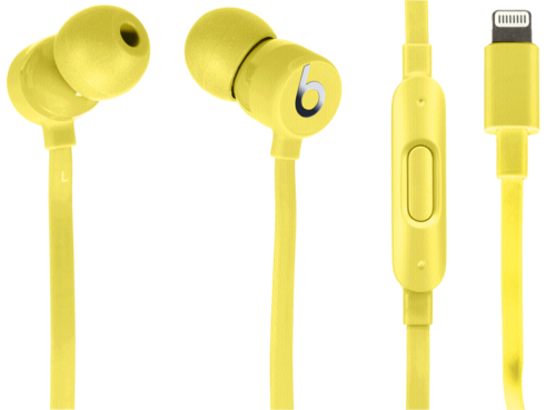 Beats urBeats3 Earphones Yellow with Lightning Connector