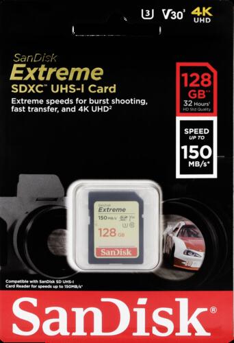 SanDisk Extreme SDXC Video 128GB 150MB/s V30 U3
