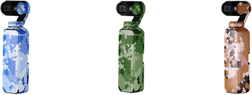 PGYTECH Skin Sticker 3-Pack CAMOUFLAGE for DJI Osmo Pocket