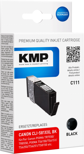 KMP C111 ink cartridge black