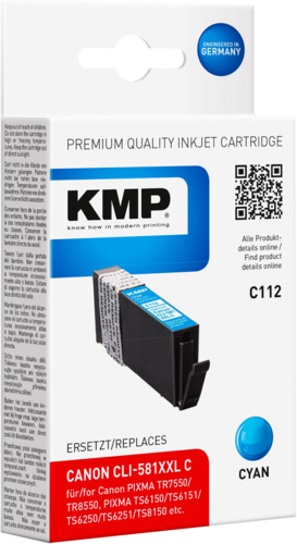 KMP C112 ink cartridge cyan