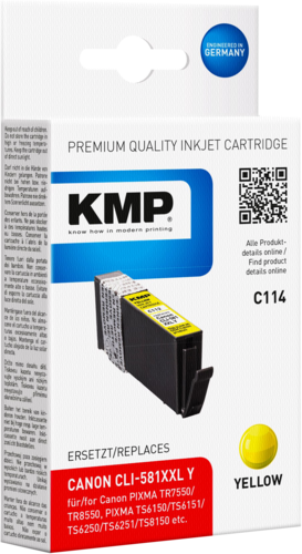KMP C114 ink cartridge yellow