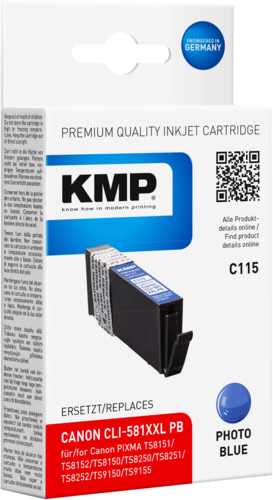 KMP C115 ink cartridge blue