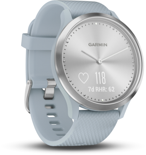 Garmin vivomove HR Sport silver/bluegreen