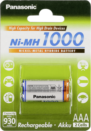 Panasonic High Capacity AAA 930 mAh Micro 1x2