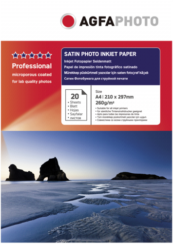 AgfaPhoto Professional Photo Paper 260g Satin A4 20 Sheets