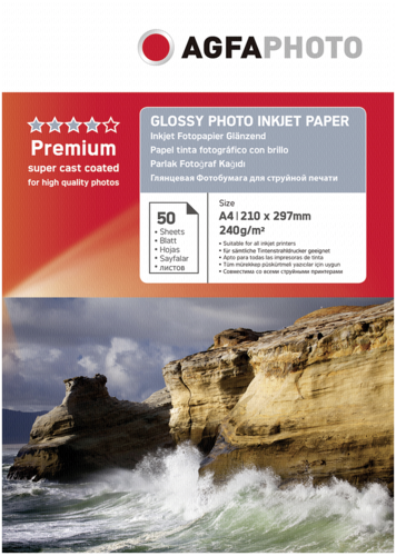 AgfaPhoto Premium Glossy Photo Paper 240g A4 50 Sheets