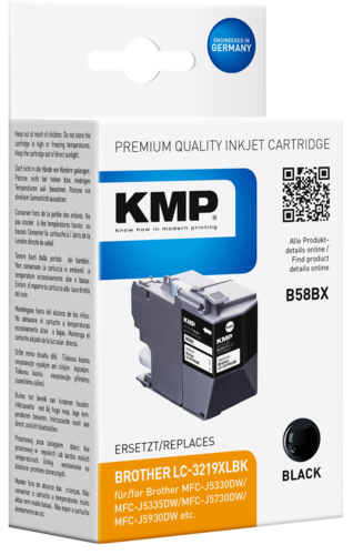 KMP B58BX ink cartridge black for Brother LC-3219XLBK