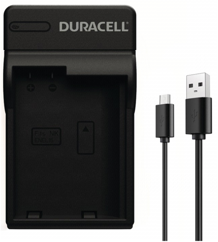 Duracell Charger with USB Cable for DRNEL15/EN-EL15