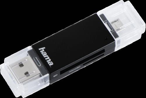 Hama OTG Card Reader Basic SD/microSD USB 2.0 black