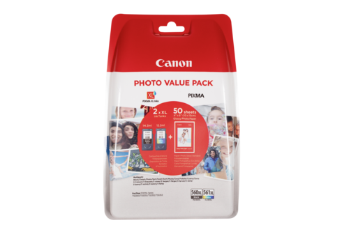 Canon PG-560 XL / CL-561 XL Photo Value Pack PP-201 10x15