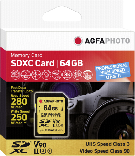 AgfaPhoto Professional High Speed SD 64GB