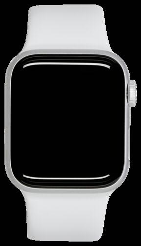 Apple Watch Series 5 GPS 44mm Silver Alu Case White Sport Band