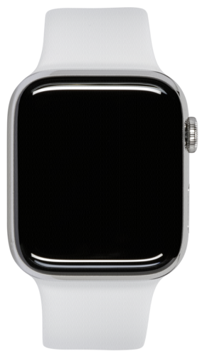 Apple Watch Series 5 GPS + Cell 44mm Steel Case White Sport Band
